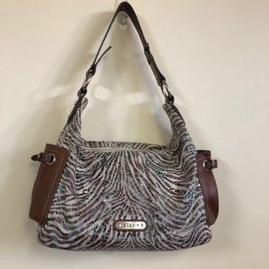 Sharif Shine & brown leather purse